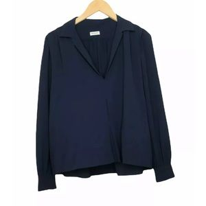 Masscob Popover Top Blue Made In Spain Size M